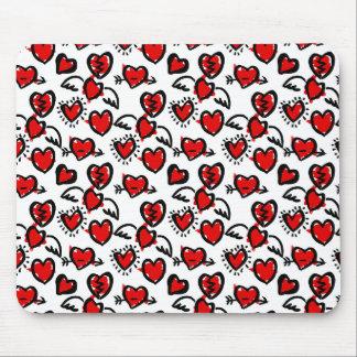 Anti-Valentine Sketch Pattern Mouse Pad