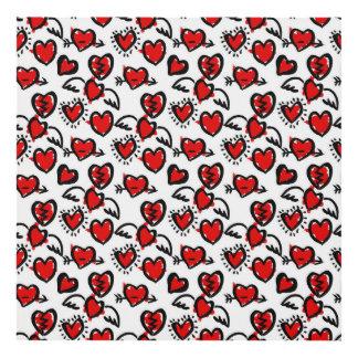 Anti-Valentine Sketch Pattern Panel Wall Art