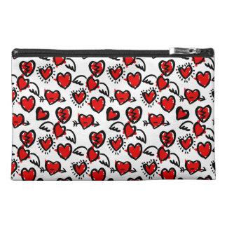 Anti-Valentine Sketch Pattern Travel Accessory Bag