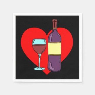 Anti Valentine Wine Drinking Party Napkins