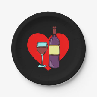 Anti Valentine Wine Drinking Party Plates