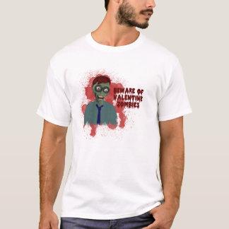 Anti Valentine Zombie Warning Shirt