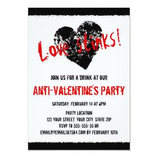 Anti Valentines day black heart 5x7 Paper Invitation Card