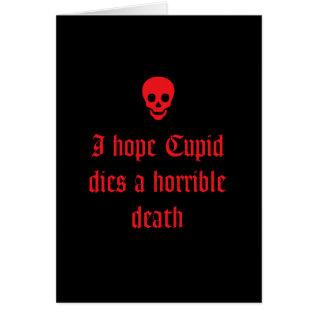 Anti Valentine's Day Card at Zazzle
