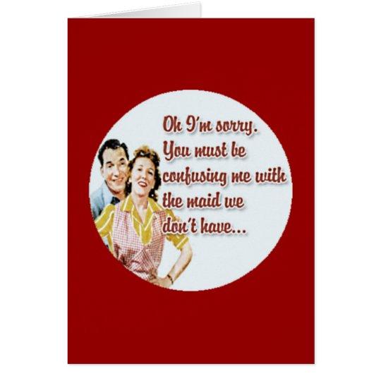 Anti-Valentine's Day Card Retro Housewife