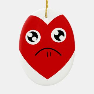 anti valentines day ceramic ornament