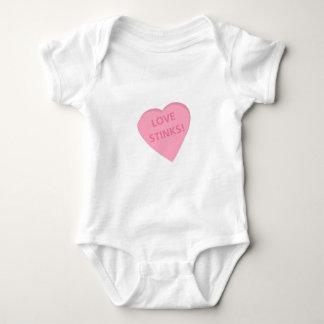 Anti-Valentine's Day conversation heart t-shirts. Baby Bodysuit