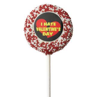 Anti Valentine's Day Cookie Pops (1 Dozen) Chocolate Dipped Oreo Pop