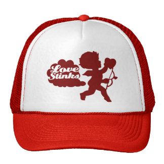 Anti-valentines day Cupid Mesh Hats