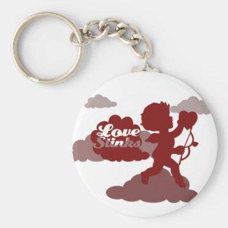 anti-valentines day Cupid Love stinks Keychain
