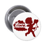 Anti-valentines day Cupid Pinback Buttons