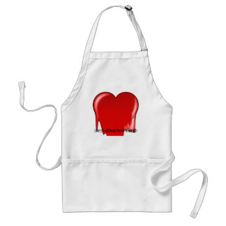 Anti-Valentine's Day: Cupid rhymes with stupid Adult Apron
