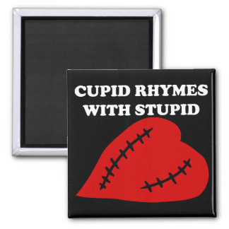 Anti-Valentine's Day: Cupid rhymes with stupid Magnet