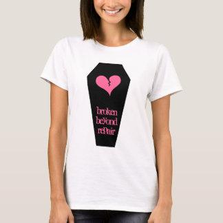 Anti Valentine's day cute broken heart on coffin T-Shirt