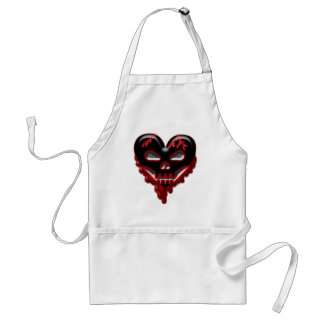 Anti-Valentine's Day: Doomed Heart Adult Apron