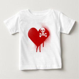 Anti Valentines Day Emo Skull Heart Baby T-Shirt