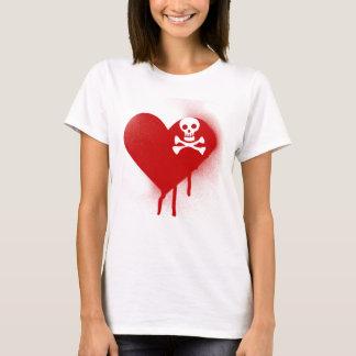 Anti Valentines Day Emo Skull Heart T-Shirt