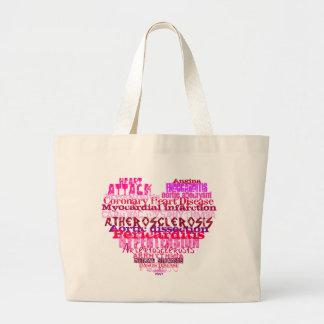 Anti Valentine's Day Heart Canvas Bag