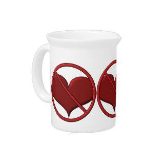 Anti Valentine's Day Heart: S.A.D. by Sonja A.S. Drink Pitcher