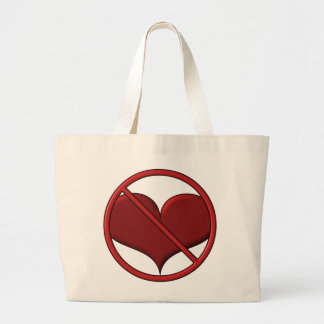 Anti Valentine's Day Heart: S.A.D. by Sonja A.S. Large Tote Bag