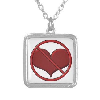 Anti Valentine's Day Heart: S.A.D. by Sonja A.S. Silver Plated Necklace