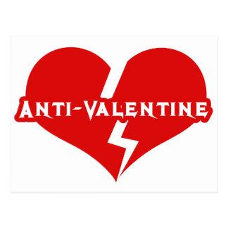 Anti-Valentines Day Heartbreaker Postcard