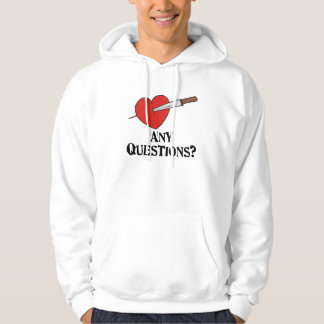Anti Valentine's Day Hooded Pullover