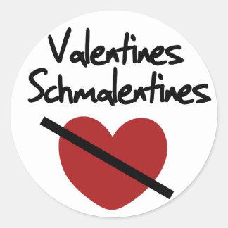 Anti valentines day humor classic round sticker