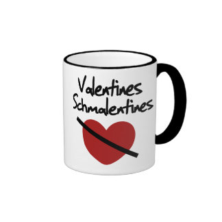 Anti valentines day humor ringer coffee mug