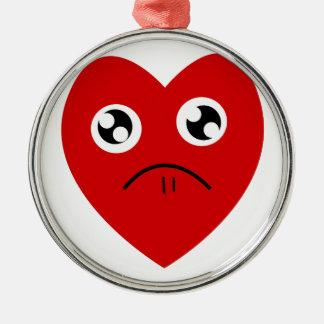 anti valentines day metal ornament