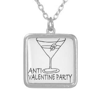 Anti-Valentines Day Party Cocktail Martini.png Necklace