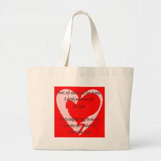 Anti-Valentine's Day Poem Tote Bag