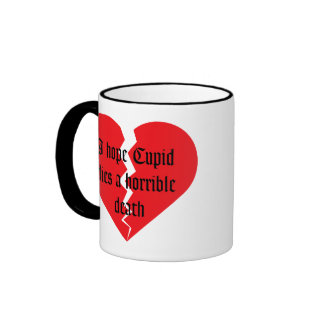 Anti Valentine's Day Ringer Coffee Mug