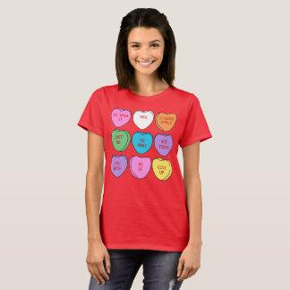Anti-Valentine's Day Sarcastic Conversation Hearts T-Shirt