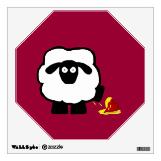 Anti Valentine's Day Sheep Wall Decal