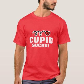 Anti Valentines Day t-shirt slogan   Cupid sucks