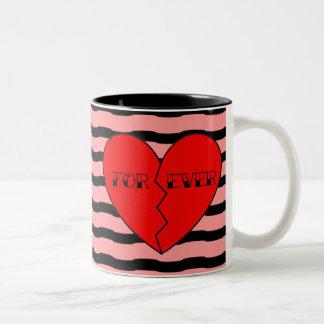Anti-Valentine's Day Two-Tone Coffee Mug