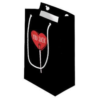 anti valentines day you suck small gift bag
