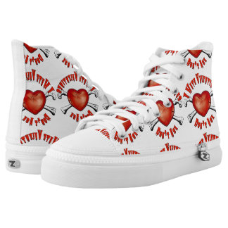Anti-Valentines I hate Valentine's Day; Don't Ask High-Top Sneakers