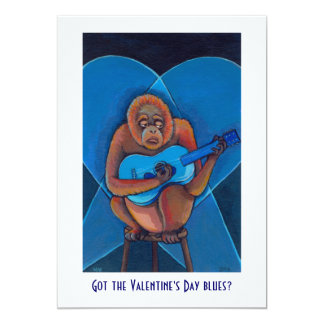 Anti Valentines party fun art blues musician cards