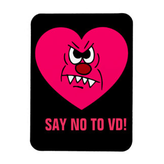Anti-VD: I hate Valentines Day Angry Heart Face Magnet