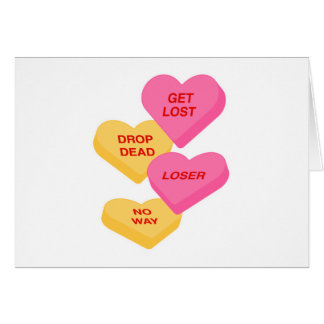 anti vday candy hearts cards
