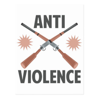 Anti Violence Postcard