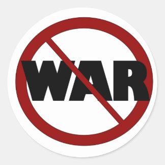 Anti War Classic Round Sticker