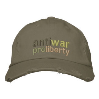 Anti War Embroidered Hats
