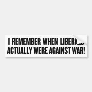 Anti War Liberals Bumper Sticker