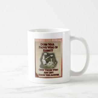 Anti-War Poster Classic White Coffee Mug