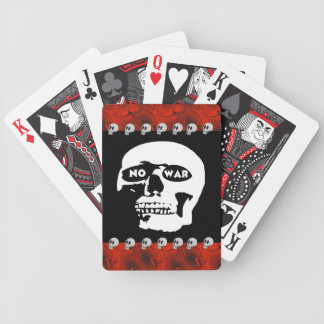 Anti-War Skull Bicycle Playing Cards