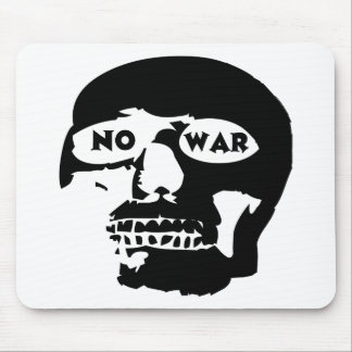 Anti-War Skull Mouse Pad