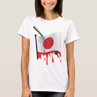 anti-whaling statement harpoon flag T-Shirt